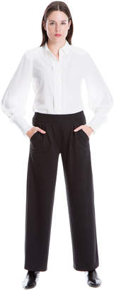 Max Studio wide-leg heather knit pants