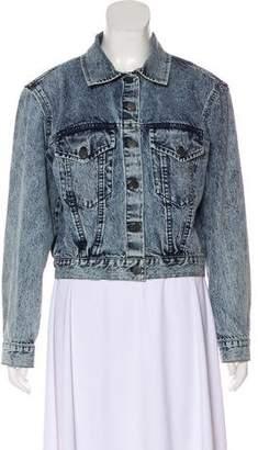 Alice + Olivia Stone Wash Denim Jacket w/ Tags