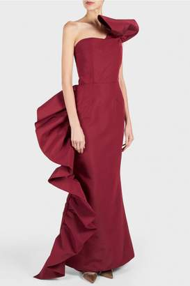 Christian Siriano Side Ruffle Gown