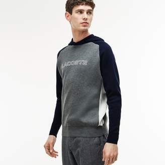 Lacoste Men's Hooded Sweatshirt With Rubber Print