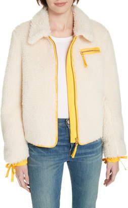 Tory Burch Faux Shearling Jacket