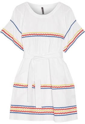 Lisa Marie Fernandez - Fiesta Rickrack-trimmed Cotton-poplin Mini Dress - White $830 thestylecure.com
