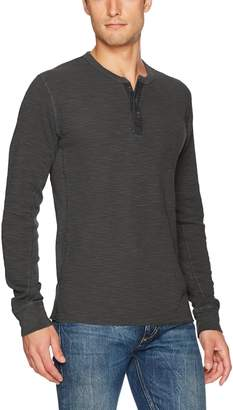Lucky Brand Men's Lived In Thermal Henley Shirt Shirt,