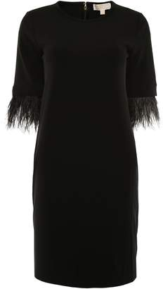 MICHAEL Michael Kors Dress With Feathers