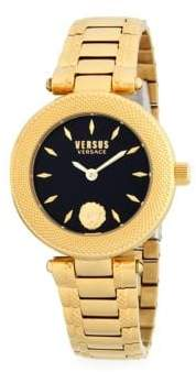 Versace Lion Stainless Steel Link Bracelet Watch