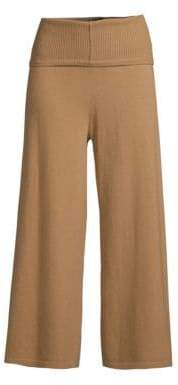 Max Mara Crepe Rib-Knit Virgin Wool Pants