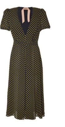 N°21 N 21 Anastasia Polka Dot Crepe Dress