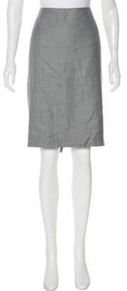 Giorgio Armani Knee-Length Wool Skirt w/ Tags Grey Knee-Length Wool Skirt w/ Tags