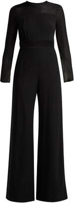 Goat Glamour silk-trimmed crepe jumpsuit