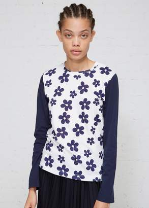 Comme des Garcons Flower Print Long Sleeve T-shirt