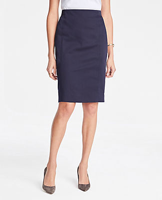 Ann Taylor Pencil Skirt in Cotton Sateen