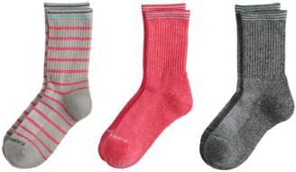 Free Country Girls 7-16 3-Pack Wool Crew Socks
