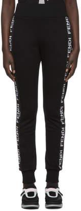 Fendi Black Roma Band Lounge Pants