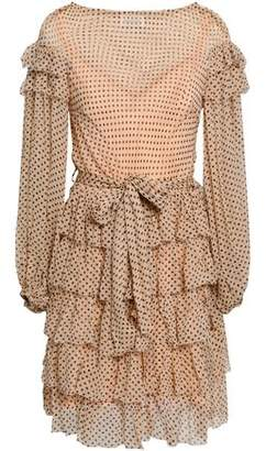 Zimmermann Tiered Printed Silk-georgette Mini Dress