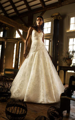Isa Belle Isabelle Armstrong Letizia Lace Embroidered Ball Gown