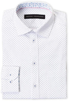 Report Collection Boys 8-20) Dot Pattern Dress Shirt