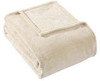 HS HYSEAS Coral Fleece Twin Size Plush Throw Blanket, Sand