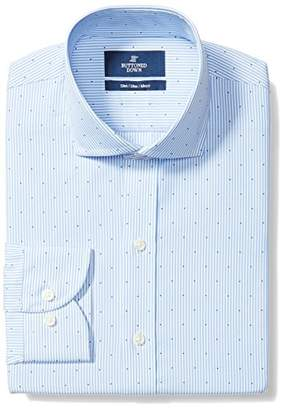 Buttoned Down Men's Slim Fit Spread Collar Pattern Non-Iron Dress Shirt