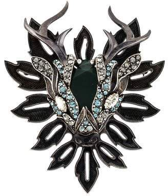 Lanvin Crystal Deer Head Brooch
