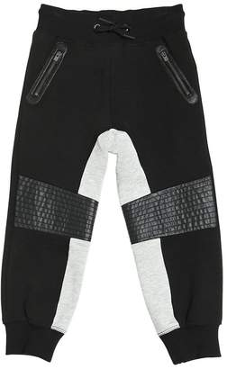 Armani Junior Baggy Fit Cotton Biker Sweatpants