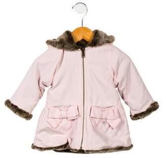 Lili Gaufrette Girls' Faux Fur-Lined Coat