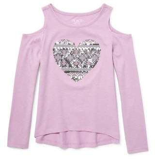 Children's Place The Amelia Cold Shoulder Long Sleeve Top (Little Girls & Big Girls)