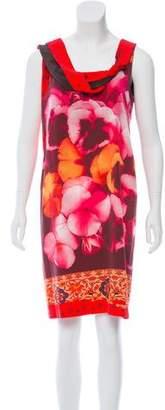 Fuzzi Printed Knee-Length Dress