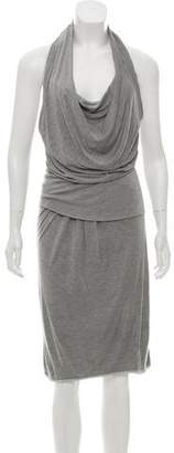 Max Mara Jersey Knit Halter Dress