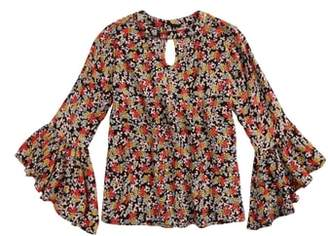 Tucker + Tate Floral Ruffle Bell Sleeve Top