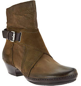 As Is Miz Mooz Leather Boots with Crossover Detail - Elwood $119.95 thestylecure.com