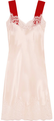 Givenchy - Lace-trimmed Silk-satin Dress - Blush $2,185 thestylecure.com