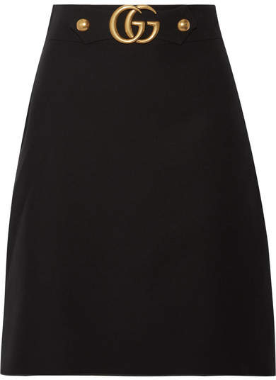 Gucci - Wool And Silk-blend Skirt - Black