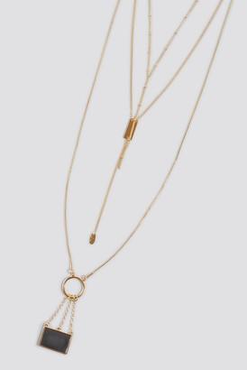 MANGO Leo Necklace Gold