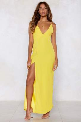 Nasty Gal Thighs the Limit Maxi Dress