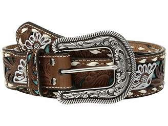 M&F Western Turquoise Floral Overlay with Lace Edge Belt