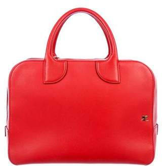 Courreges Medium Leather Duffel Bag