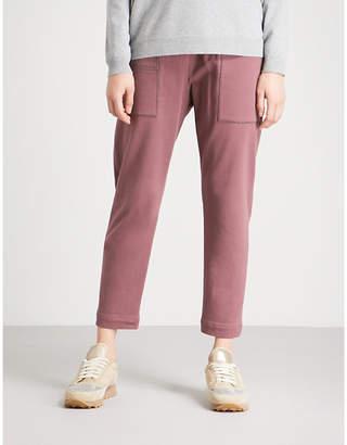 Brunello Cucinelli Straight cropped stretch-cotton jogging bottoms
