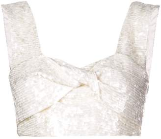 5a006a3372b47 White Embellished Cropped Top - ShopStyle