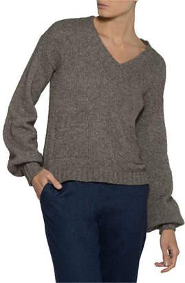 Eleventy V-Neck Yak-Wool Pullover Sweater
