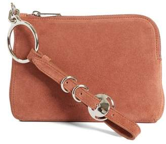 Alexander Wang Small Ace Suede Wristlet
