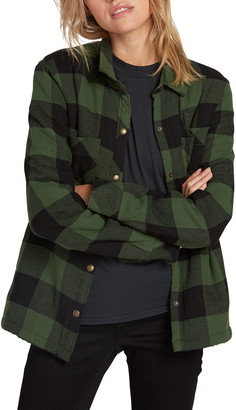Volcom Plaid About You Plaid Flannel Shaket