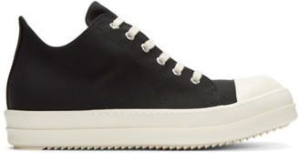 Rick Owens Drkshdw Black Nylon Low Sneakers $620 thestylecure.com