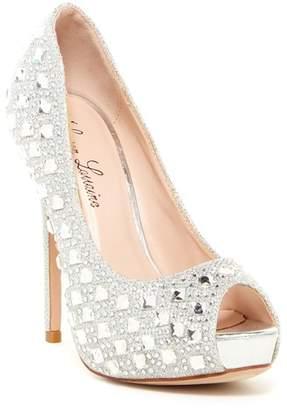 Ralph Lauren Lorraine Candy Crystal Peep Toe Pump
