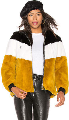 Mackage Fabia Reversible Rabbit Fur Jacket