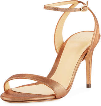 Alexandre Birman Satine Metallic High Ankle-Strap Sandals