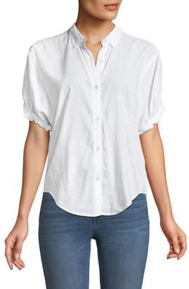 Splendid Boyfriend Short-Sleeve Button-Up Shirt