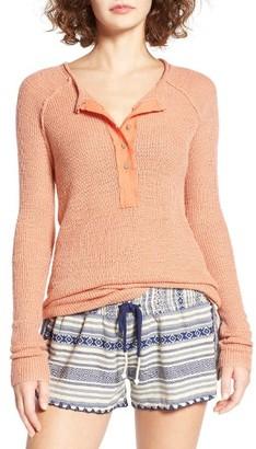 Women's Rip Curl Soft Spot Knit Henley $59.50 thestylecure.com