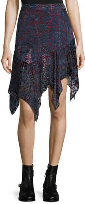 IRO Birkin Asymmetric Handkerchief Hem Skirt