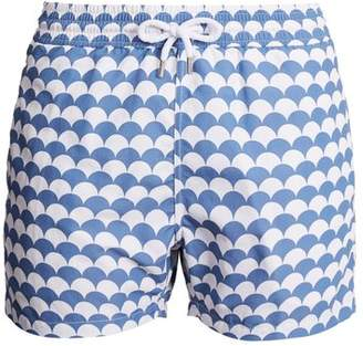 Frescobol Carioca - Sports Noronha Print Swim Shorts - Mens - Blue