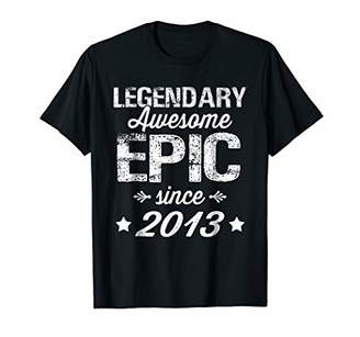 Legendary Awesome Epic Since 2013 5th Birthday T-Shirt Gift